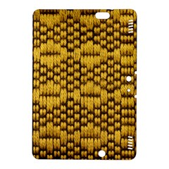 Golden Pattern Fabric Kindle Fire HDX 8.9  Hardshell Case by Onesevenart