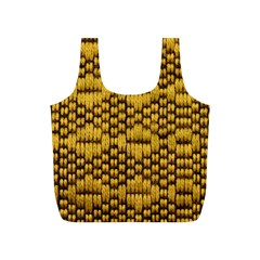 Golden Pattern Fabric Full Print Recycle Bags (s)  by Onesevenart