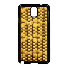 Golden Pattern Fabric Samsung Galaxy Note 3 Neo Hardshell Case (Black)