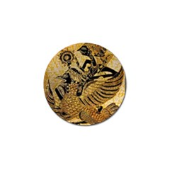 Golden Colorful The Beautiful Of Art Indonesian Batik Pattern Golf Ball Marker (4 pack) by Onesevenart