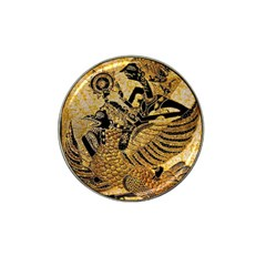 Golden Colorful The Beautiful Of Art Indonesian Batik Pattern Hat Clip Ball Marker (10 Pack) by Onesevenart