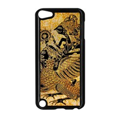 Golden Colorful The Beautiful Of Art Indonesian Batik Pattern Apple Ipod Touch 5 Case (black) by Onesevenart