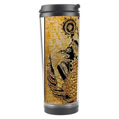 Golden Colorful The Beautiful Of Art Indonesian Batik Pattern Travel Tumbler by Onesevenart