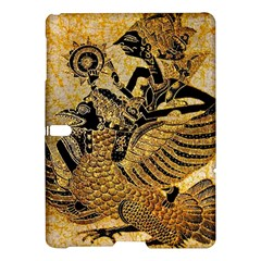 Golden Colorful The Beautiful Of Art Indonesian Batik Pattern Samsung Galaxy Tab S (10 5 ) Hardshell Case  by Onesevenart