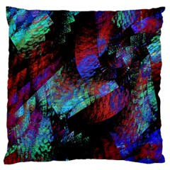 Native Blanket Abstract Digital Art Large Flano Cushion Case (two Sides) by Onesevenart