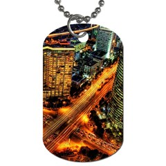 Hdri City Dog Tag (one Side) by Onesevenart