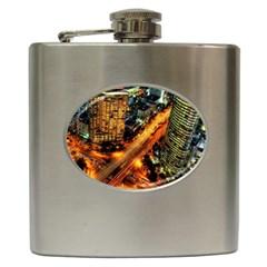 Hdri City Hip Flask (6 Oz) by Onesevenart