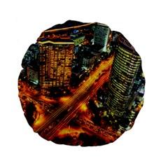 Hdri City Standard 15  Premium Flano Round Cushions by Onesevenart