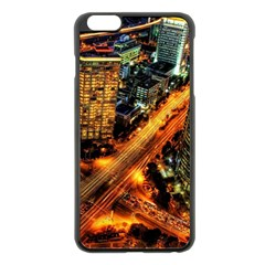 Hdri City Apple Iphone 6 Plus/6s Plus Black Enamel Case by Onesevenart