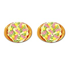 Pizza Clip Art Cufflinks (oval) by Onesevenart