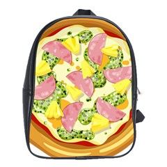 Pizza Clip Art School Bags (xl)  by Onesevenart