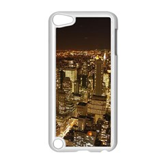 New York City At Night Future City Night Apple Ipod Touch 5 Case (white) by Onesevenart