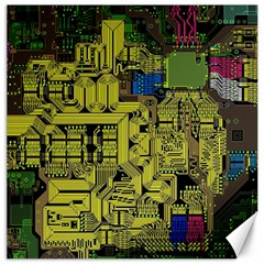 Technology Circuit Board Canvas 20  X 20   by Onesevenart