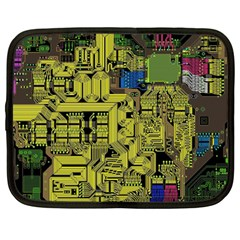 Technology Circuit Board Netbook Case (large) by Onesevenart