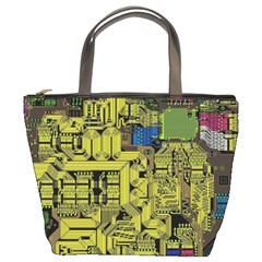 Technology Circuit Board Bucket Bags by Onesevenart