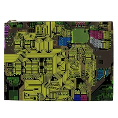 Technology Circuit Board Cosmetic Bag (xxl)  by Onesevenart