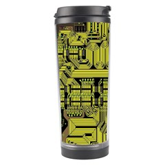 Technology Circuit Board Travel Tumbler by Onesevenart
