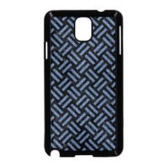 Woven2 Black Marble & Blue Denim Samsung Galaxy Note 3 Neo Hardshell Case (black) by trendistuff