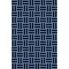 Woven1 Black Marble & Blue Denim (r) 5 5  X 8 5  Notebook by trendistuff