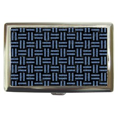 Woven1 Black Marble & Blue Denim Cigarette Money Case by trendistuff