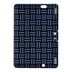 Woven1 Black Marble & Blue Denim Kindle Fire Hdx 8 9  Hardshell Case by trendistuff