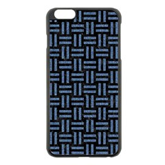 Woven1 Black Marble & Blue Denim Apple Iphone 6 Plus/6s Plus Black Enamel Case by trendistuff