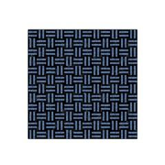 Woven1 Black Marble & Blue Denim Satin Bandana Scarf by trendistuff