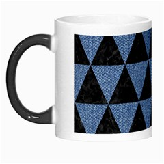 Triangle3 Black Marble & Blue Denim Morph Mug by trendistuff