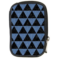 Triangle3 Black Marble & Blue Denim Compact Camera Leather Case by trendistuff