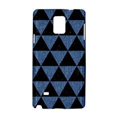 Triangle3 Black Marble & Blue Denim Samsung Galaxy Note 4 Hardshell Case by trendistuff