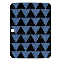 Triangle2 Black Marble & Blue Denim Samsung Galaxy Tab 3 (10 1 ) P5200 Hardshell Case  by trendistuff