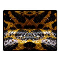 Textures Snake Skin Patterns Double Sided Fleece Blanket (small)  by Onesevenart