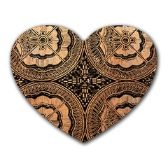 The Art Of Batik Printing Heart Mousepads by Onesevenart