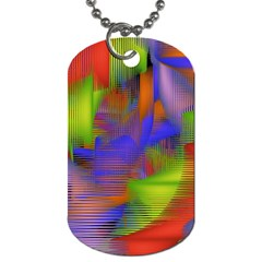 Texture Pattern Programming Processing Dog Tag (One Side) by Onesevenart