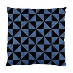 Triangle1 Black Marble & Blue Denim Standard Cushion Case (two Sides) by trendistuff