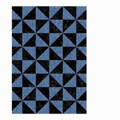 Triangle1 Black Marble & Blue Denim Small Garden Flag (two Sides) by trendistuff