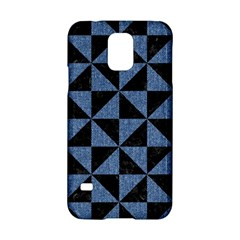 Triangle1 Black Marble & Blue Denim Samsung Galaxy S5 Hardshell Case  by trendistuff