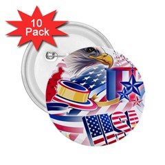 United States Of America Usa  Images Independence Day 2 25  Buttons (10 Pack)  by Onesevenart