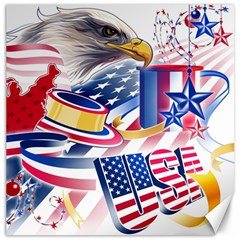 United States Of America Usa  Images Independence Day Canvas 16  X 16   by Onesevenart