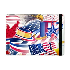 United States Of America Usa  Images Independence Day Apple Ipad Mini Flip Case by Onesevenart