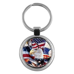 United States Of America Images Independence Day Key Chains (round)  by Onesevenart