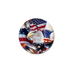 United States Of America Images Independence Day Golf Ball Marker (10 Pack) by Onesevenart