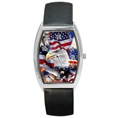 United States Of America Images Independence Day Barrel Style Metal Watch by Onesevenart