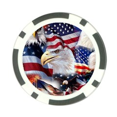 United States Of America Images Independence Day Poker Chip Card Guard (10 pack) by Onesevenart