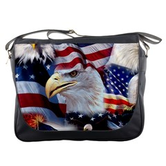 United States Of America Images Independence Day Messenger Bags by Onesevenart