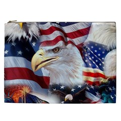 United States Of America Images Independence Day Cosmetic Bag (xxl)  by Onesevenart