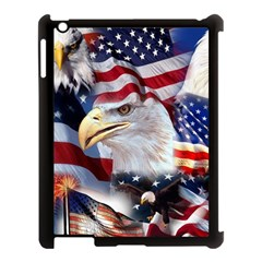 United States Of America Images Independence Day Apple Ipad 3/4 Case (black) by Onesevenart