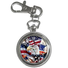 United States Of America Images Independence Day Key Chain Watches by Onesevenart