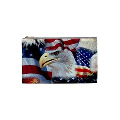 United States Of America Images Independence Day Cosmetic Bag (small)  by Onesevenart