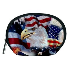 United States Of America Images Independence Day Accessory Pouches (medium)  by Onesevenart